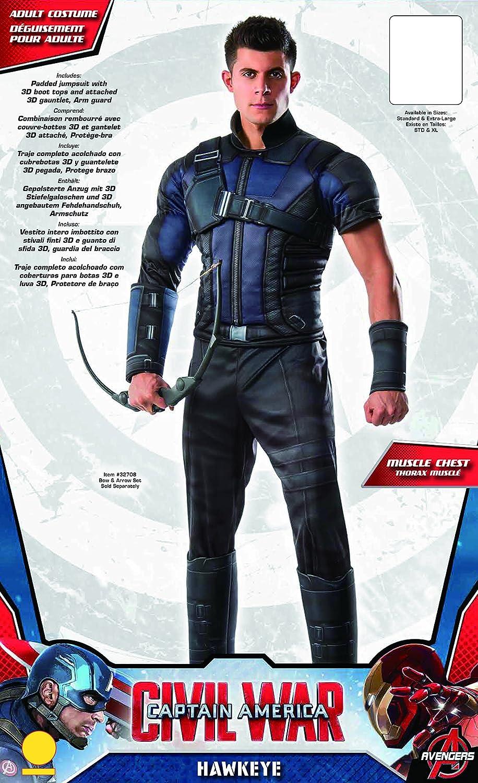 Mens Deluxe Civil War Hawkeye Fancy Dress Costume Standard ...