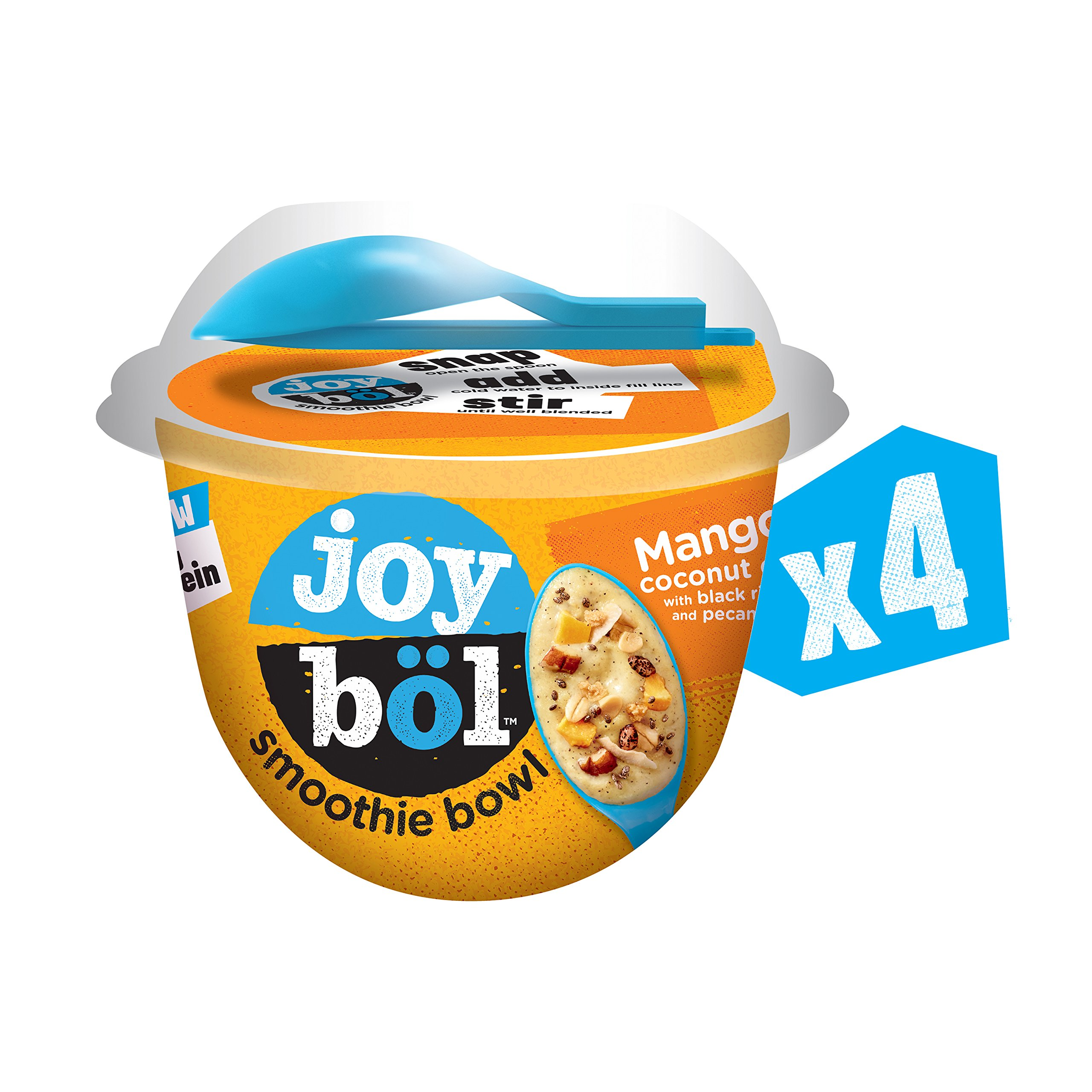 joyböl Smoothie Bowls, Mango Coconut Chia, Easy Breakfast, Non-GMO, 4 Count by joyböl