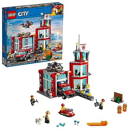 LEGO City Fire Station 60215 Building Kit, 2019 (509 Pieces)
