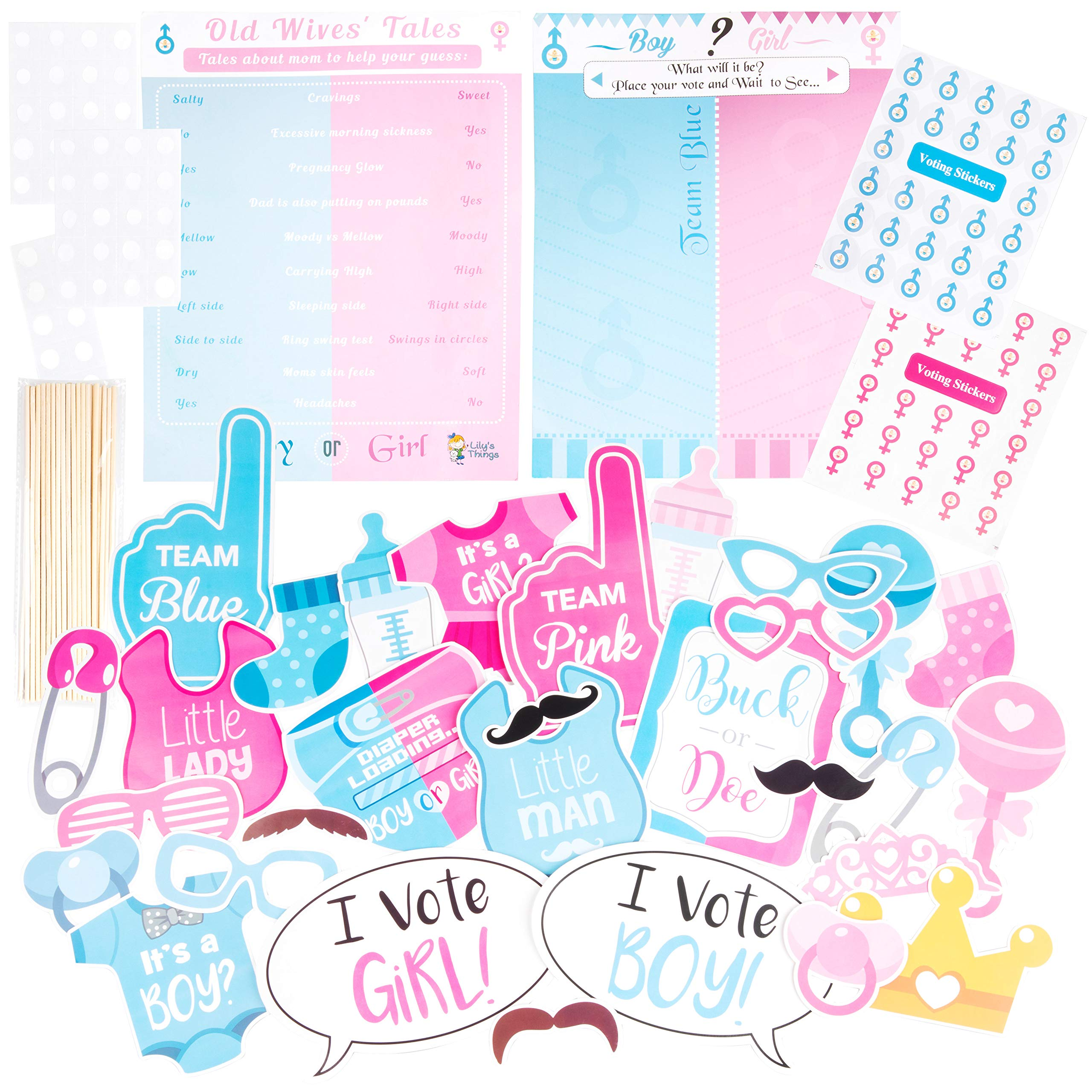 Amazoncom Large Baby Shower Or Gender Reveal Photo Booth Props And