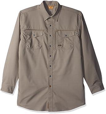 b604792e149b Ariat Men's Big REBAR Long Sleeve Work Shirt, Navy, X-Large- Tall at Amazon  Men's Clothing store: