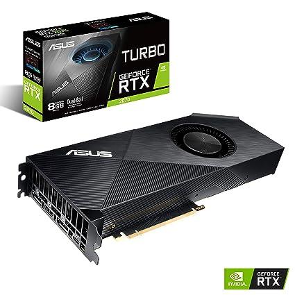ASUS GeForce RTX 2070 Turbo Edition 8G GDDR6 HDMI DP USB Type-C Graphics  Card (TURBO-RTX2070-8G)