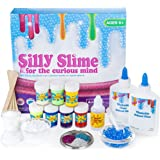 Complete DIY Slime Kit with Supplies for Over 10 Recipes – Make Homemade Slime, How to Make Slime Glow in the Dark, Glitter Slime, Crunchy Slime, Goo, Putty and more. With Instructions and Containers