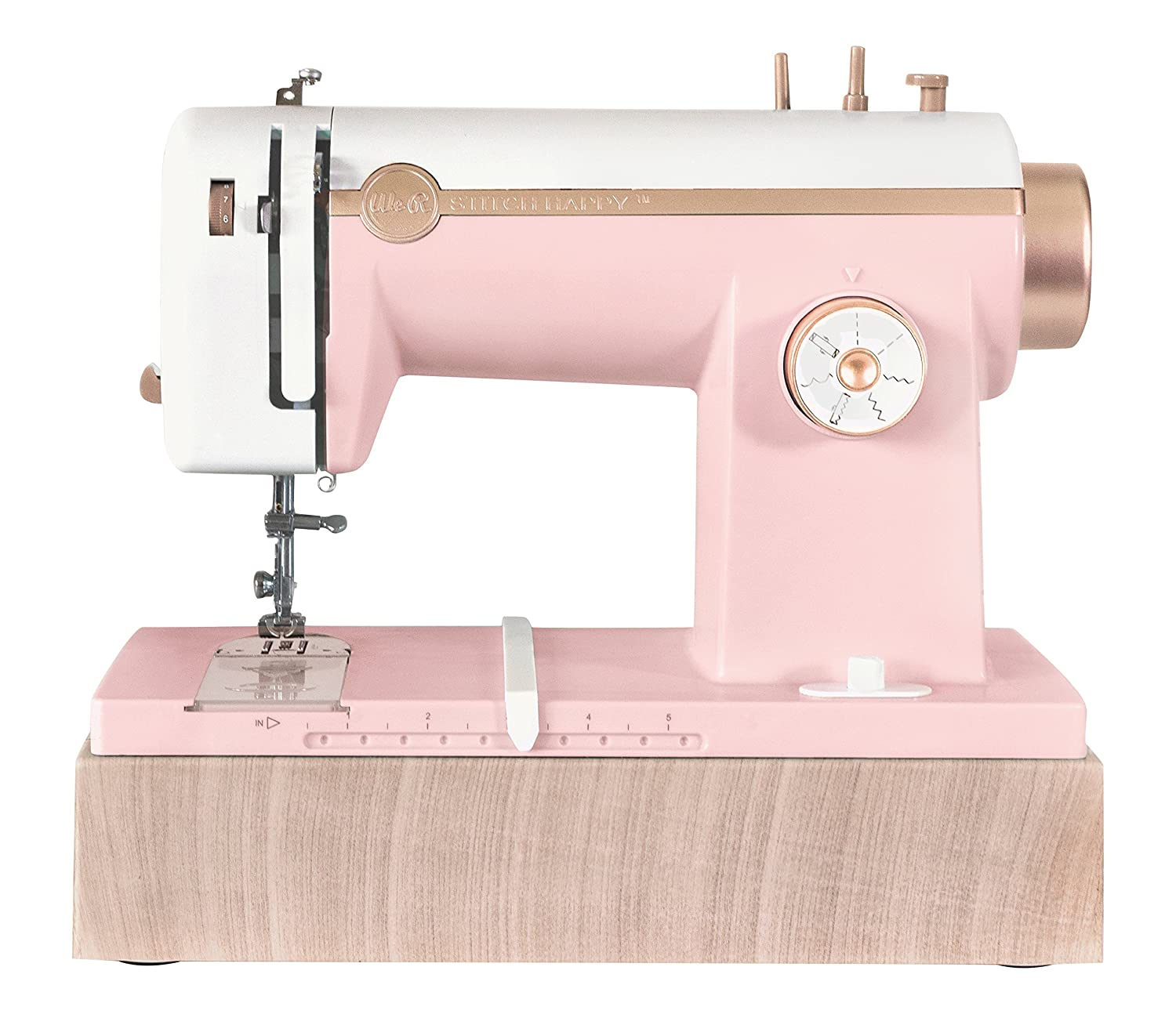 American Crafts We R Memory Keepers Stitch Happy Pink Sewing Machine 663036