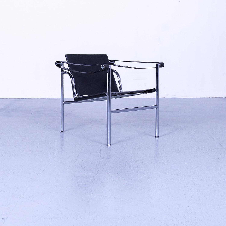 Cassina Le Corbusier Lc 1 Designer Sessel Leder Schwarz By