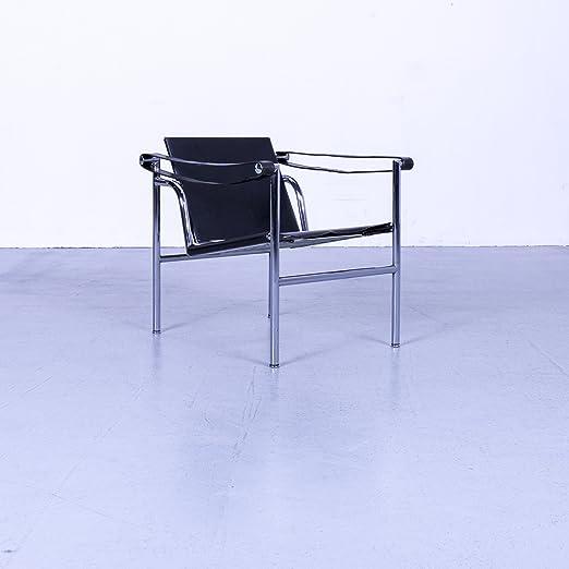 Amazon.de: Cassina Le Corbusier LC 1 Designer Sessel Leder Schwarz ...