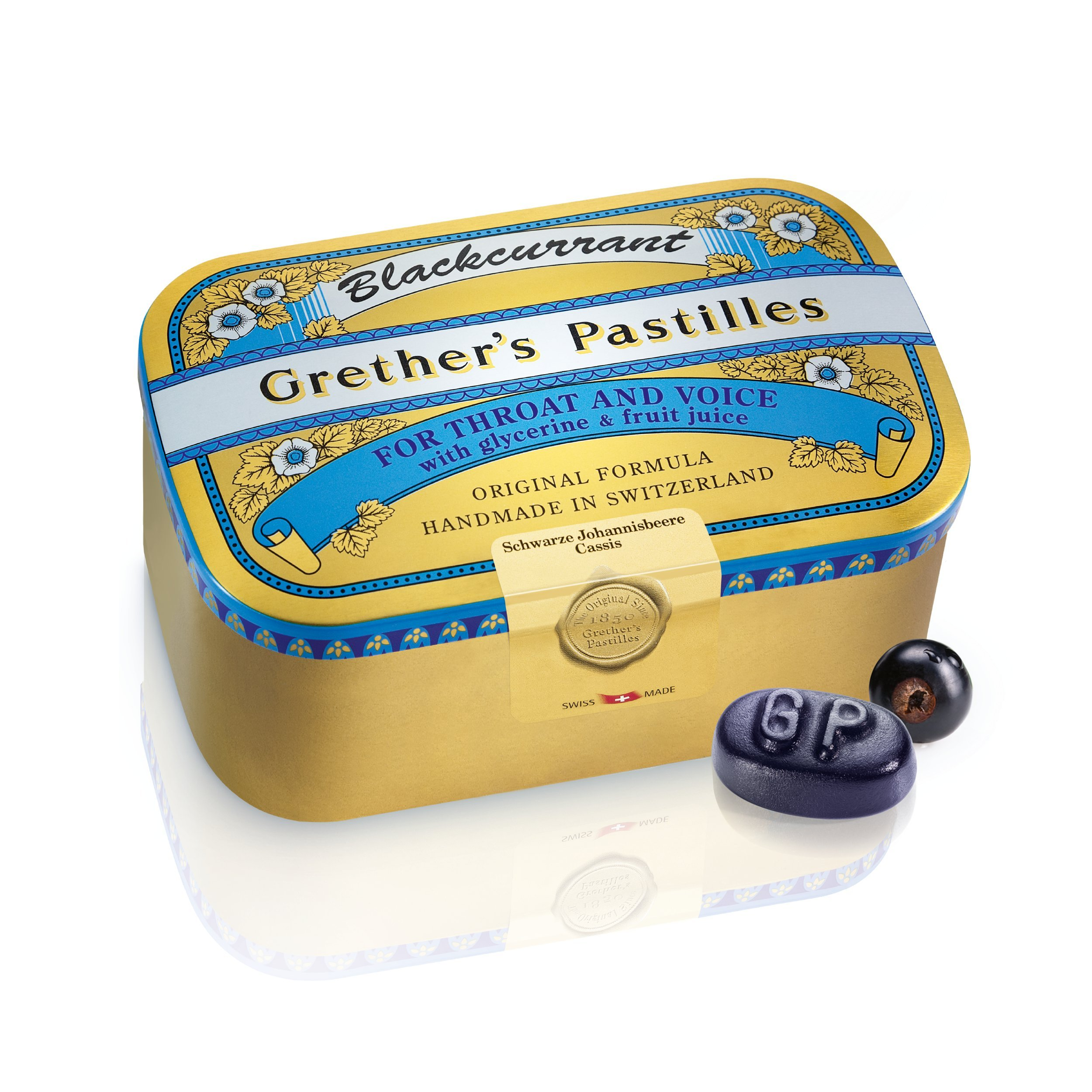 GRETHERS PASTILLES BLACK CURRANT REGULAR 15 oz
