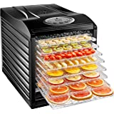 New House Kitchen 9 Dehydrator Machine Electric Food Preserver for Meat/Beef Jerky, Dried Fruit/Veggie Maker, Dishwasher Safe Slide Out Trays, Transparent Door, Black