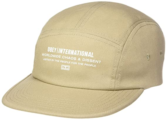 OBEY, Integrity 5 panel hat, Khaki - TU: Amazon.es: Ropa y accesorios