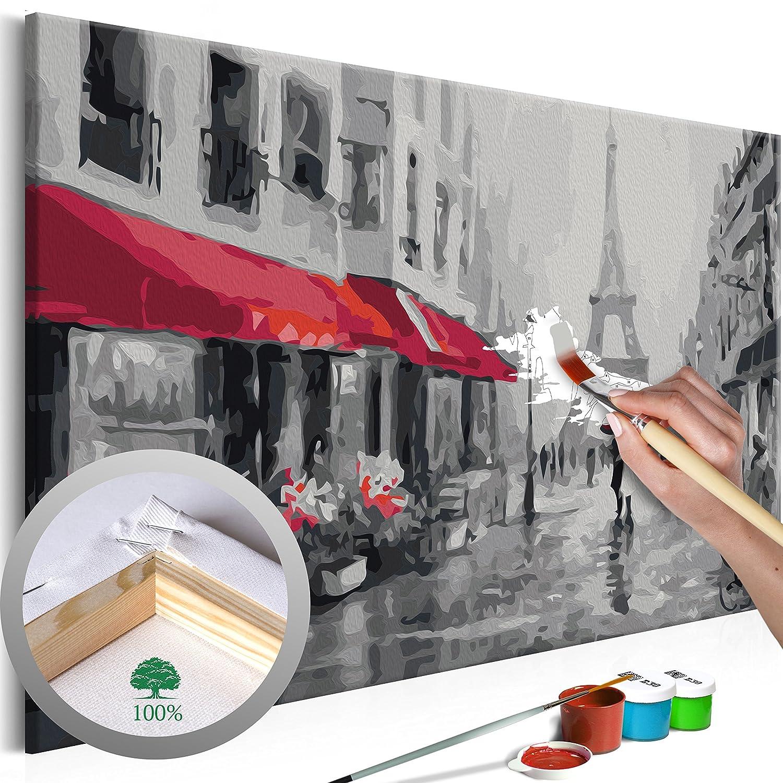 Romantic Paris 3 murando Paint by Numbers Kit Beach 60x40 cm DIY Painting Canvas Frame nA0236de