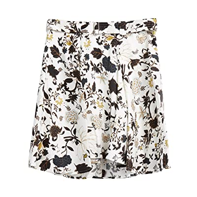 A.L.C.. Women's Brien Silk Blend Floral Skirt at Amazon Women's Clothing store