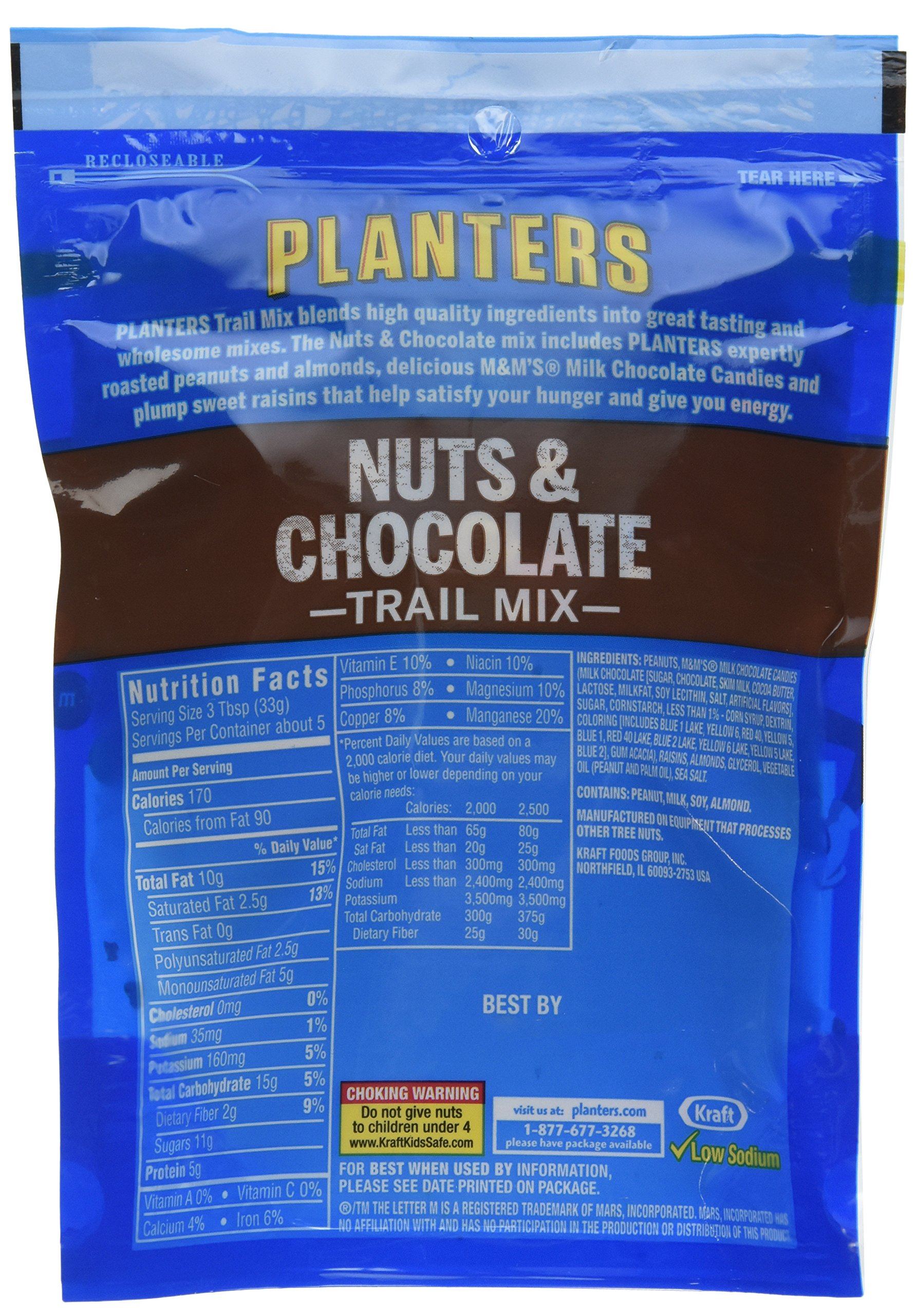 Planters Nuts & Chocolate M&M's (6 oz Bags, Pack of 12) by Planters
