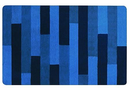 Plank 150 Cm.Spirella 10 16197 Bathroom Mat 80 X 150 Cm Plank Blue Amazon Co Uk