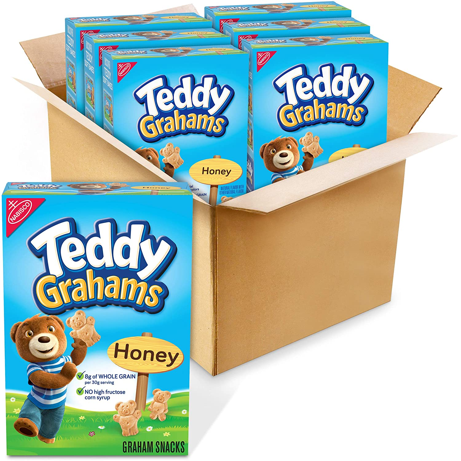 Teddy Grahams Honey Graham Snacks, 6 - 10 oz Boxes