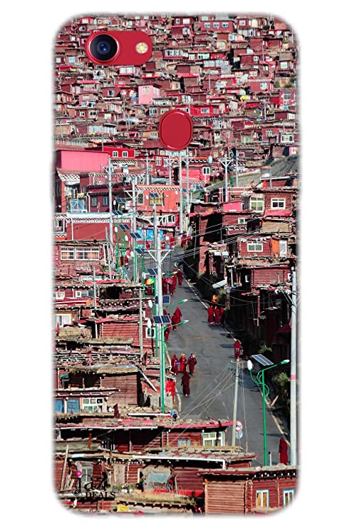 newest collection 22878 69e48 Jaz Deals Designer Red Monk City Print Hard Mobile Back: Amazon.in ...
