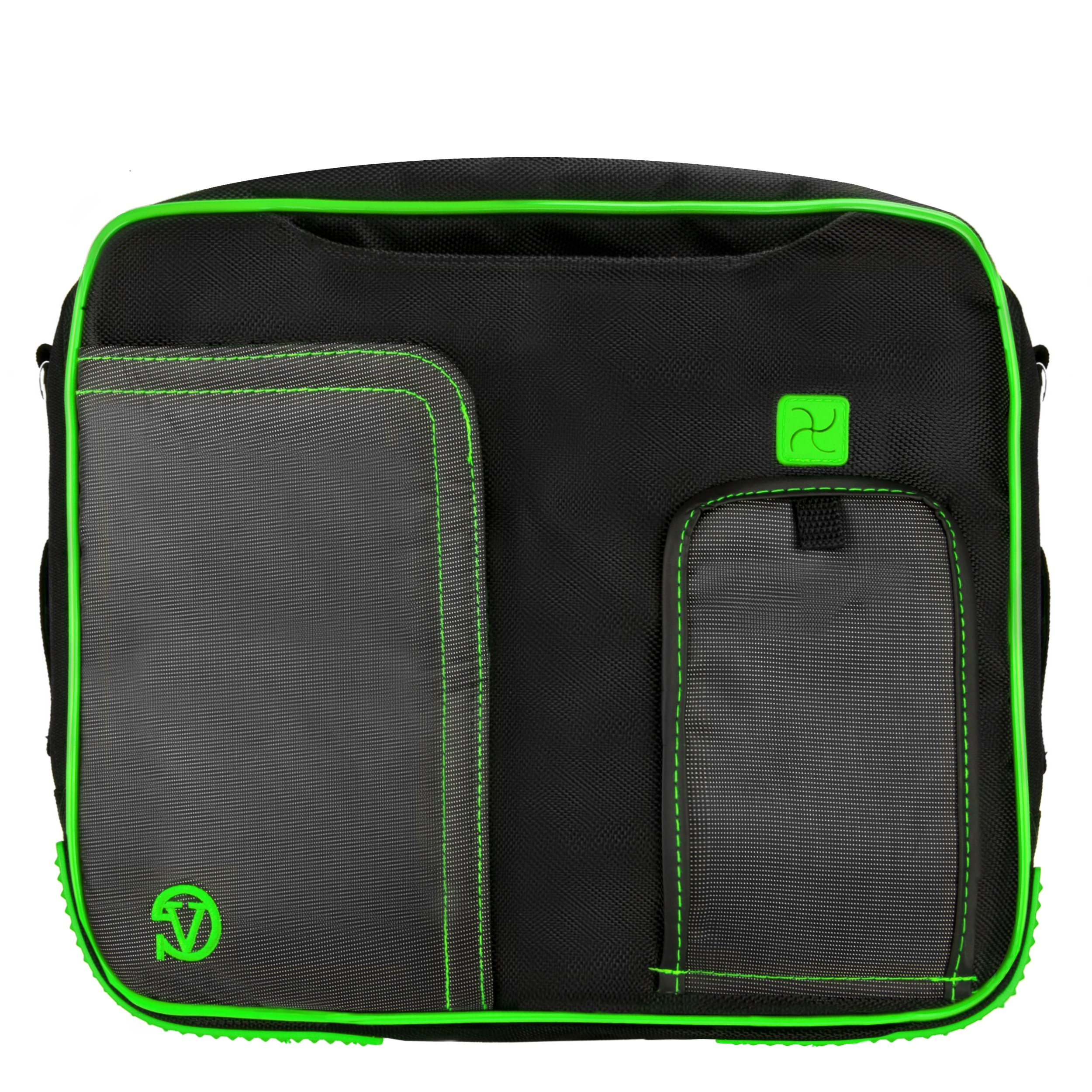 VanGoddy Pindar Messenger Carrying Bag for Samsung Galaxy Note PRO 12.2/Samsung Galaxy Tab PRO 12.2'' Tablets + Bluetooth Keyboard + Headphones (Green) by Vangoddy (Image #6)