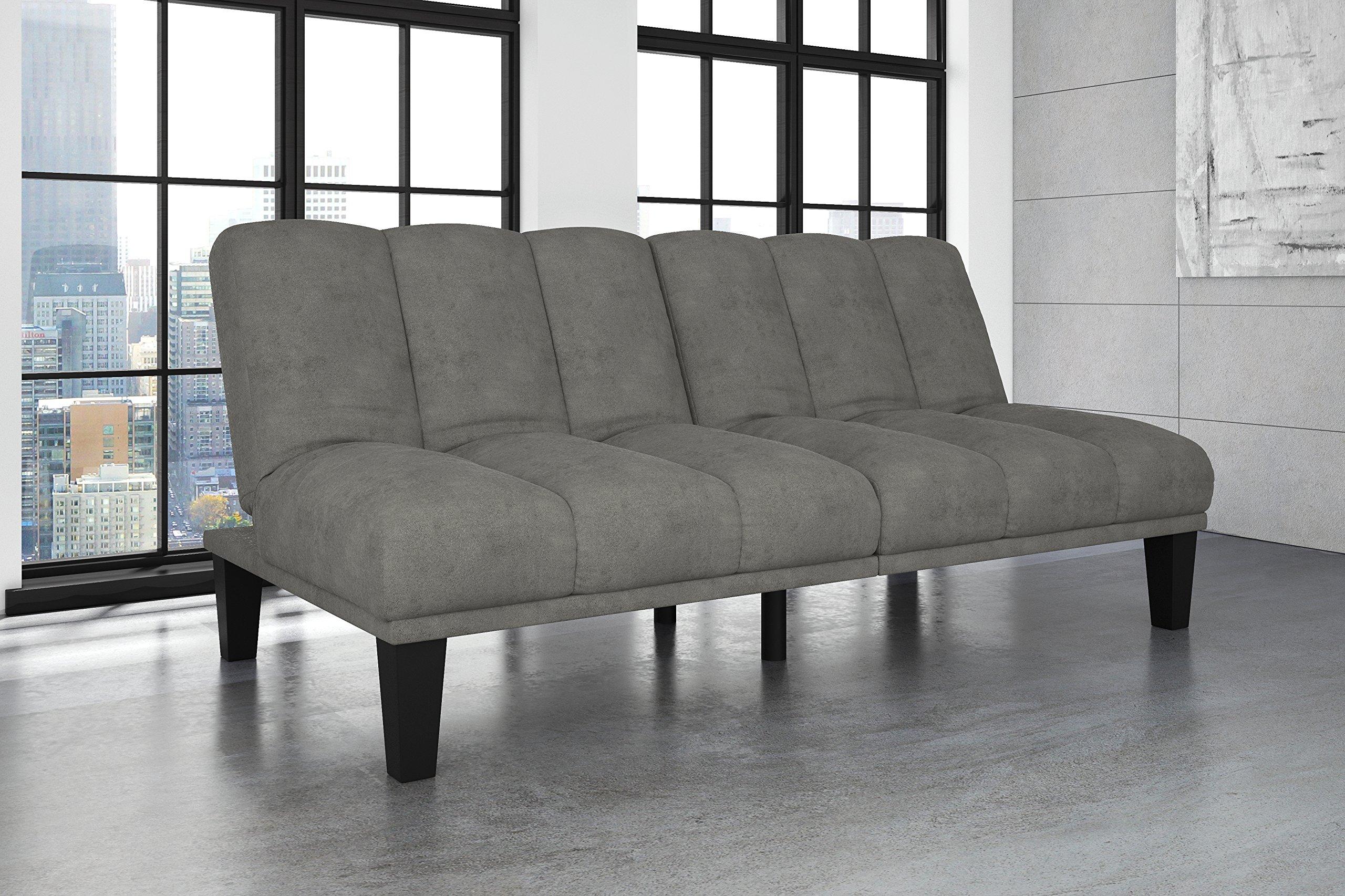 DHP Hamilton Estate Premium Sofa Futon Sleeper Comfortable Plush Upholstery, Rich Gray