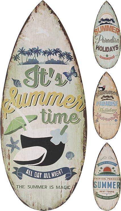Elyte - Letreros Decorativos de Pared de Madera con diseño de Tabla de Surf en 4