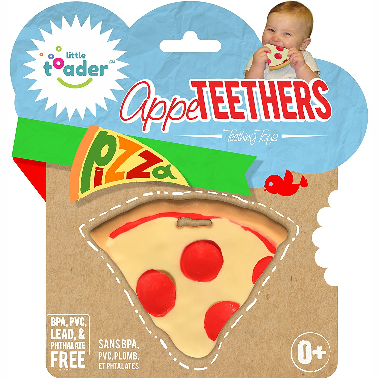 Teething Toys - BPA Free - Pizza Appe-Teether Little Toader