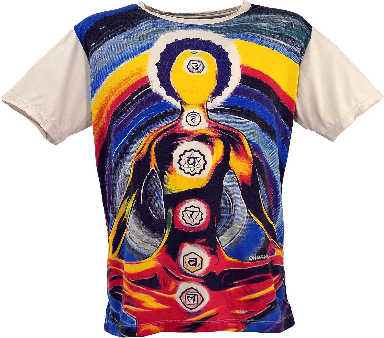 GURU-SHOP, Camiseta Espejo, Algodón, Camisetas Seguras