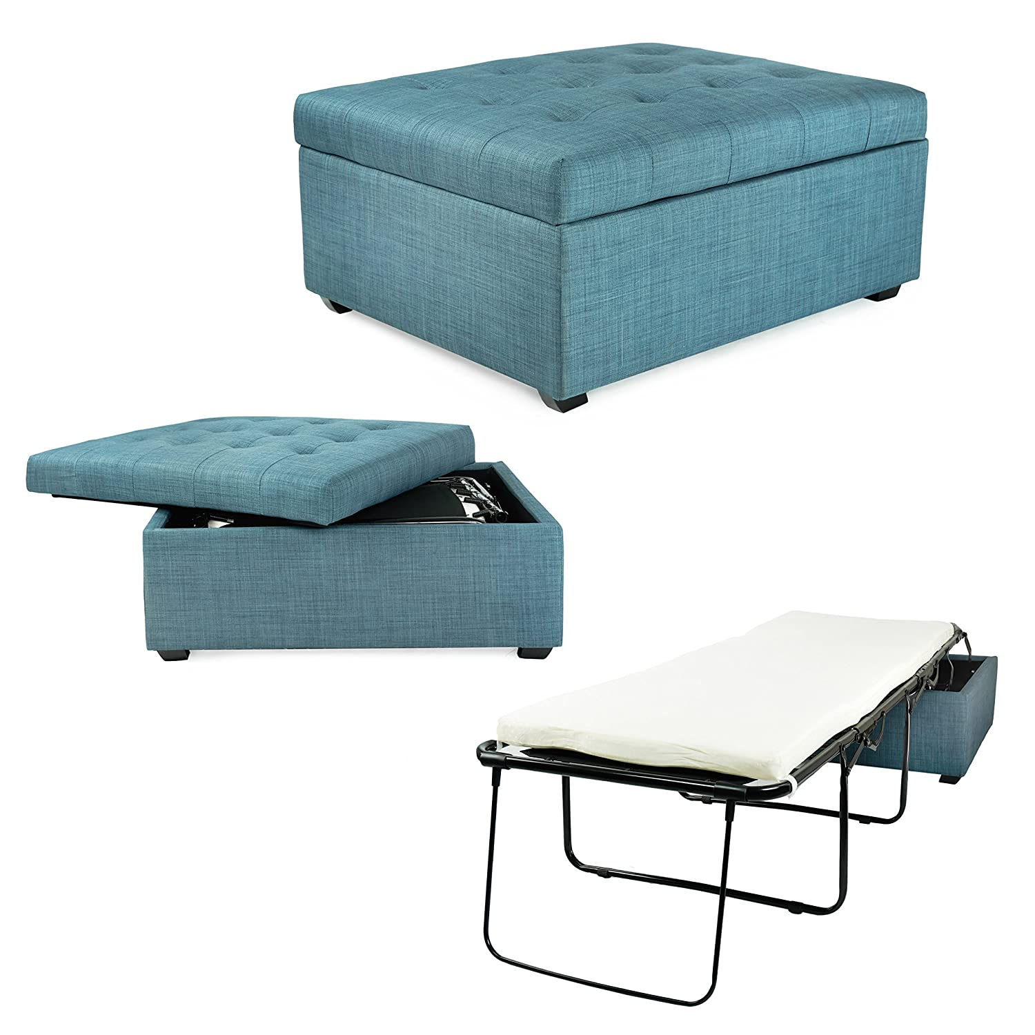 Superb Spacemaster Pc333 Ibed Convertible Guest Blue Fabric Discontinued Ottoman Bed Cjindustries Chair Design For Home Cjindustriesco