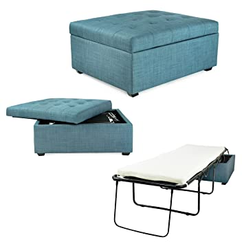 Fine Spacemaster Pc333 Ibed Convertible Guest Blue Fabric Discontinued Ottoman Bed Machost Co Dining Chair Design Ideas Machostcouk