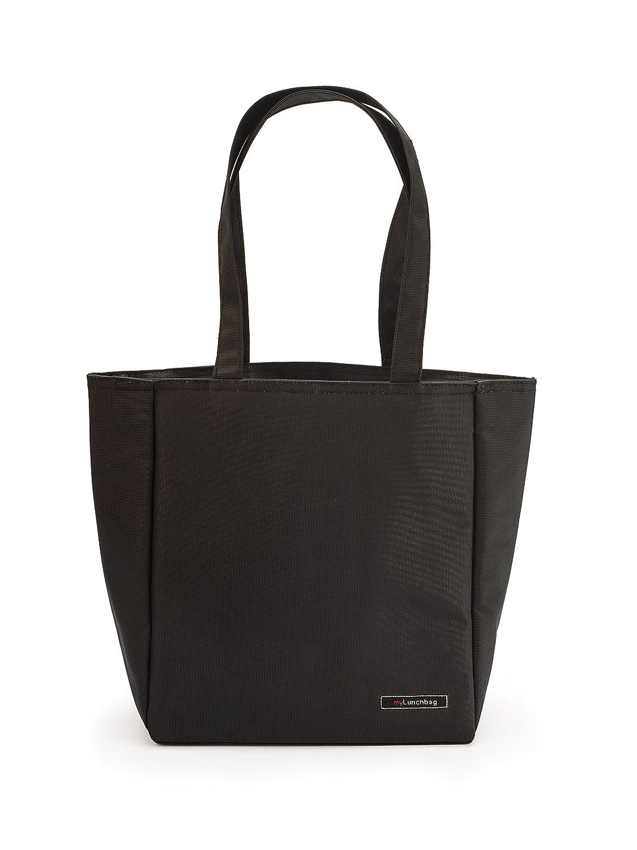Negro Tela IRIS Shopper Bolsa Porta Alimentos 26x15x30 cm