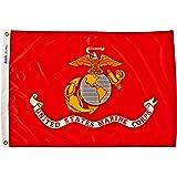 Annin Flagmakers 439004 U.S. Marine Corps Military Flag, 2 by 3'
