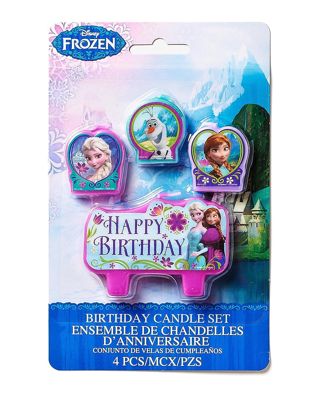 Amazoncom Disney Frozen Birthday Candle Set Assorted Size Party