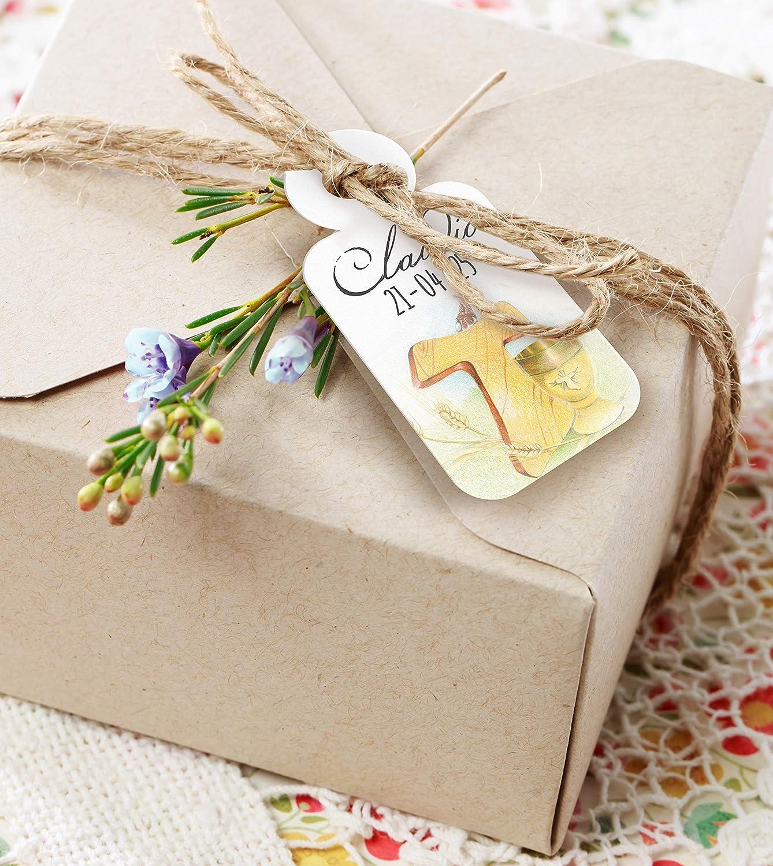 Disponibili per Comunione 24 Cartellini tag per bomboniere personalizzabili