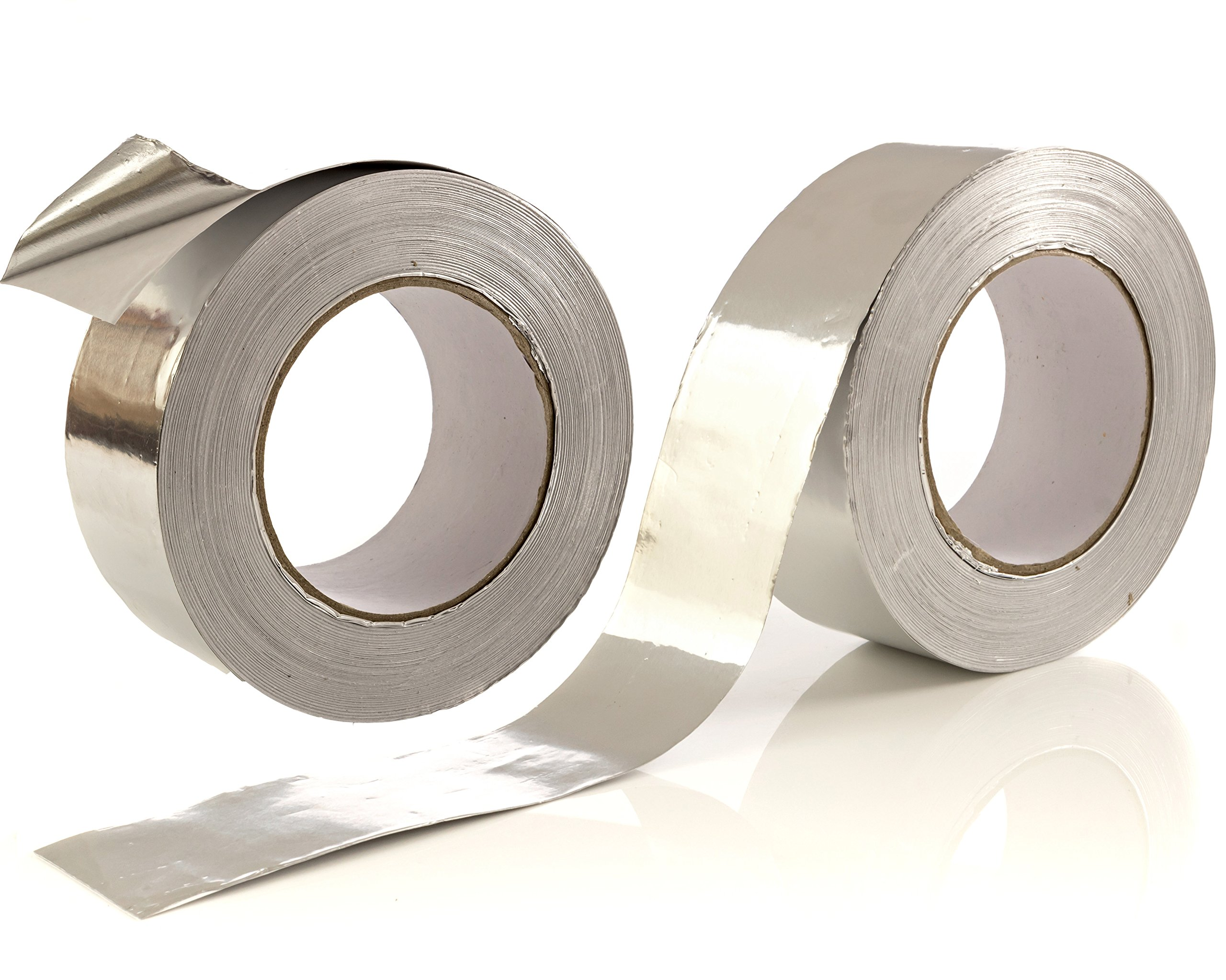 2-Pack Aluminum Tape / Aluminum Foil Tape - 1.9 inch x 150 feet (3.4 mil) Per Roll - Good for HVAC, Ducts, Insulation and More by Impresa Products