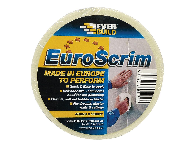 Everbuild EVB2EURO100 EuroScrim Tape 100 mm x 90 m, 90m Toolbank 2EURO100-EB