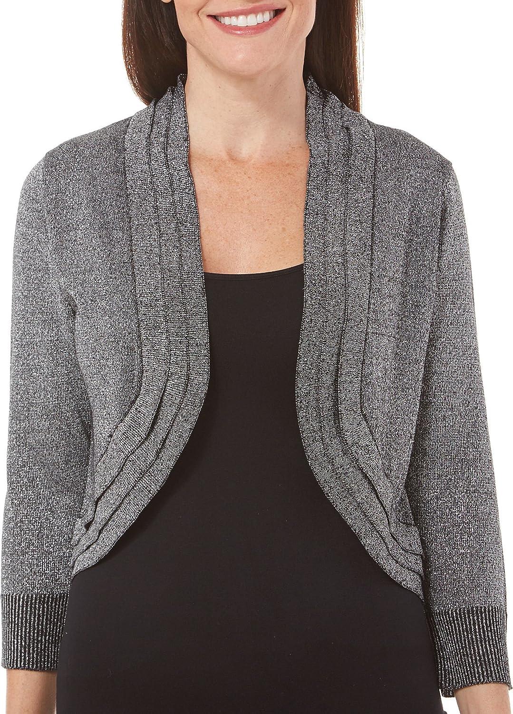 Ronni Nicole Womens Lurex Triple Collar Shrug Dress