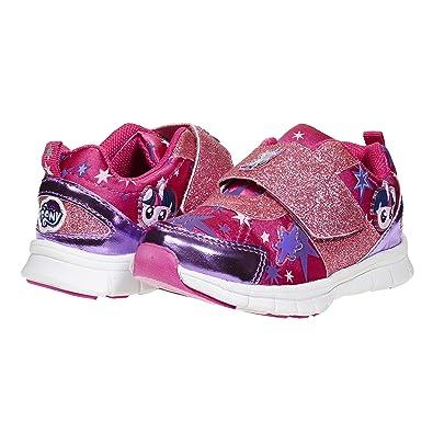 2ff9239688df1 My Little Pony Stylish, Cute Shoes; Girls Glitter Strap Kids Sneakers Size  5-13