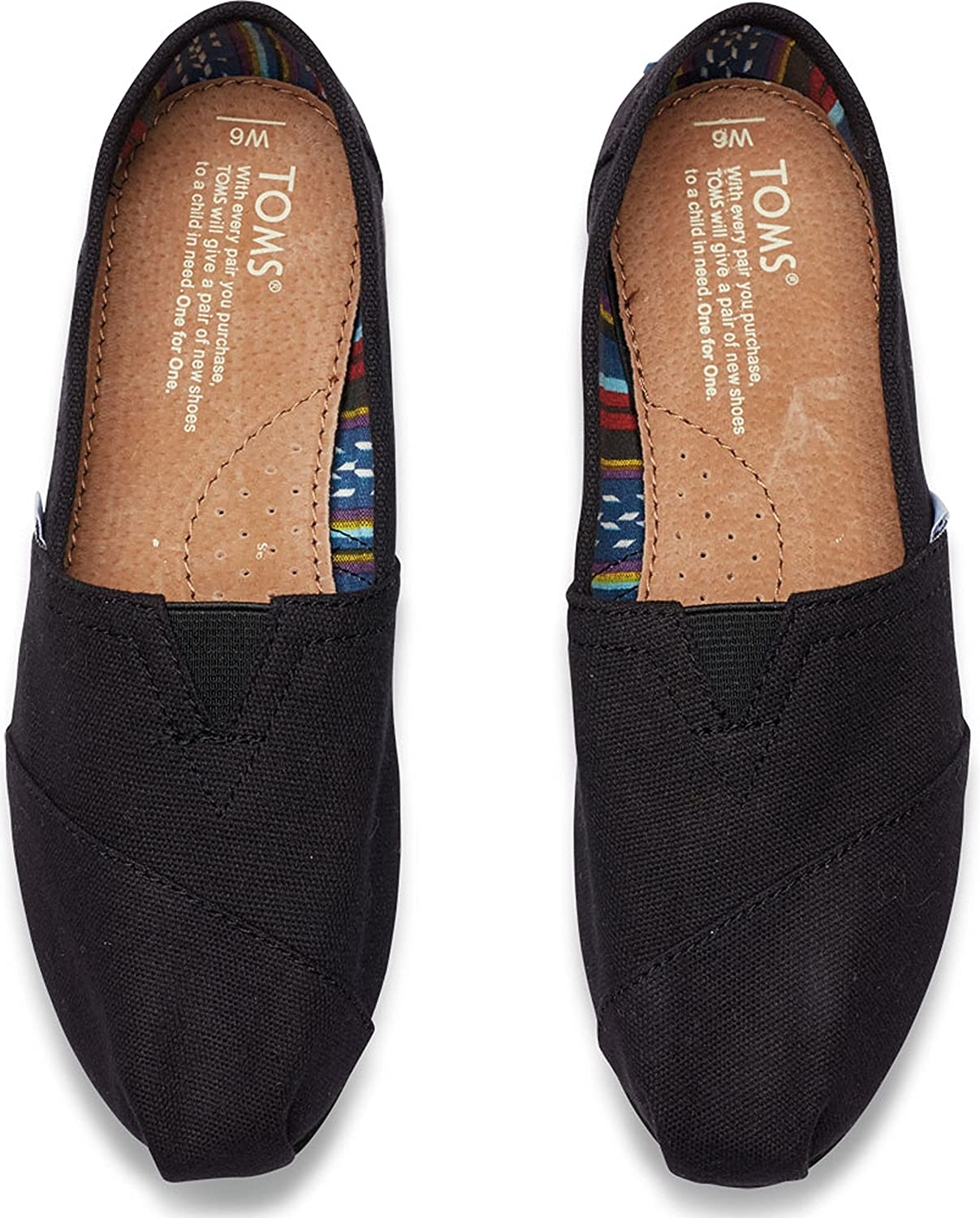 Amazon.com | TOMS Womens Classics Black/Black Canvas 10002472 Womens 5.5 | Loafers & Slip-Ons
