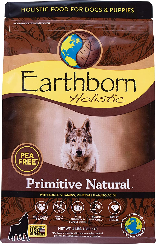 Earthborn Holistic Primitive Natural Grain Free Dry Dog Food, 4 lb