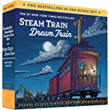 Goodnight, Goodnight, Construction Site and Steam Train, Dream Train Board Books Boxed Set (Board Books for Babies, Preschool