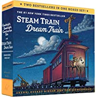 Goodnight, Goodnight, Construction Site and Steam Train, Dream Train Board Books Boxed Set (Board Books for Babies…