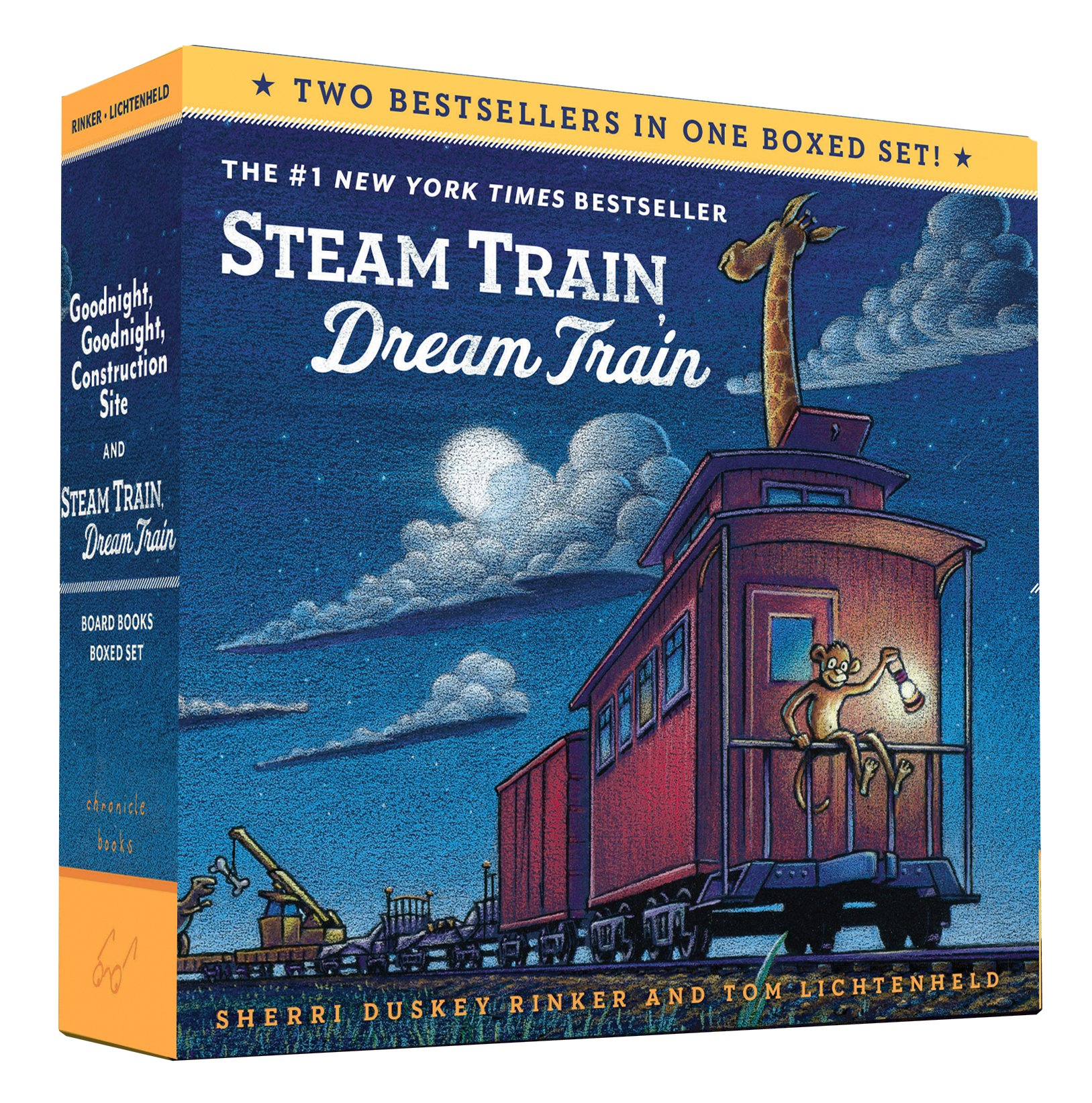 Image for Goodnight, Goodnight, Construction Site and Steam Train, Dream Train Board Books Boxed Set (Board Books for Babies, Preschool Books, Picture Books for Toddlers)