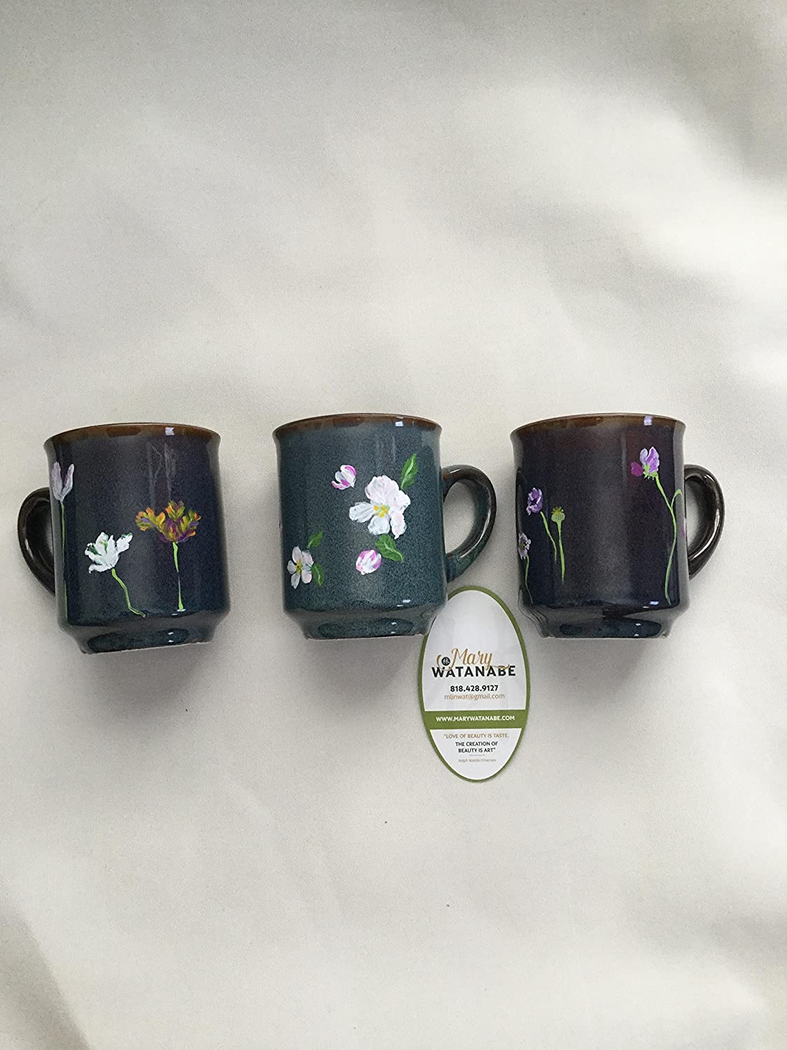 Spring Flowers Glazed Textured Coffee Mug Tea Cup Hand Painted Flowers Gift For Birthday Mother S Day House Warming Best Friend Anniversary Handmade