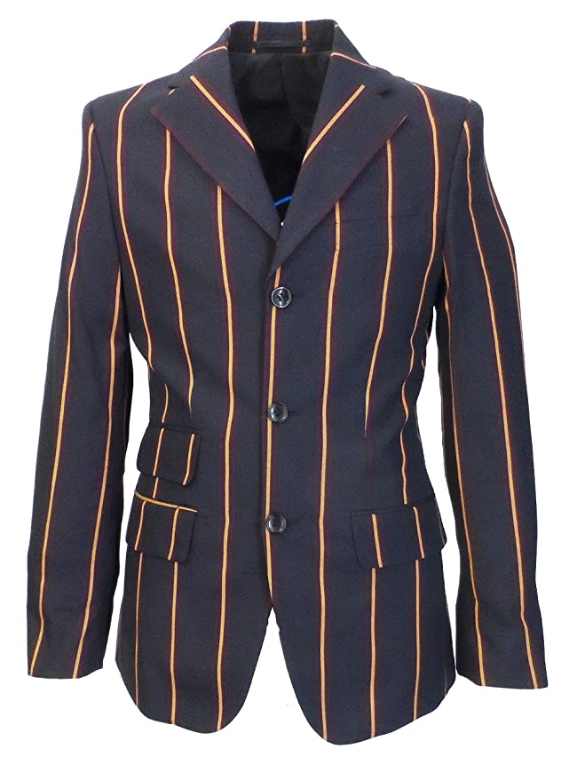 Men's Vintage Style Suits, Classic Suits Relco Mens Weller Navy Boating Blazer Jacket £99.99 AT vintagedancer.com