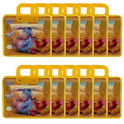 Asera 12 Pcs Yellow Winnie The Pooh Multipurpose Kids Bags For Birthday Return Gifts Amazonin Wallets Luggage