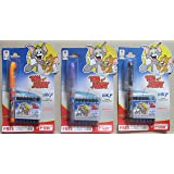 Flair Tom & Jerry Ink Liquid Fountain Pen With 5 Blue + 2 Black Cartridges - 3 Packs