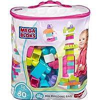 Mega Bloks DCH62 First Builders 80-Piece Big Building Bag (Pink)