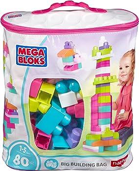 Mega Bloks DCH62 First Builders 80-Piece Big Building Bag