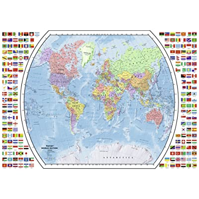 Ravensburger Political World Map 1000 Piece Jigsaw Puzzle for Adults – Every Piece is Unique, Softclick Technology Means Pieces Fit Together Perfectly: Toys & Games
