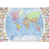 Ravensburger Political World Map 1000 Piece Jigsaw Puzzle for Adults – Every Piece is Unique, Softclick Technology Means Pieces Fit Together Perfectly