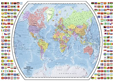 Amazon Com Ravensburger Political World Map 1000 Piece Jigsaw