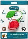 Infusor de Chá em Silicone Morango Prana vermelho