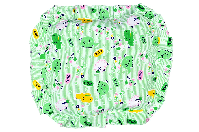 Sharma Clothing Detachable Mustard Seeds Cotton Soft Neck Pillow (Green)